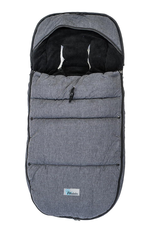 Altabebe Travel Alpin 12-36 meses color gris oscuro//negro Saco de invierno para las sillas de paseo Bugaboo /& Joolz