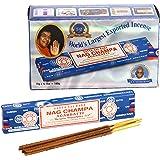 Großpackung Nag Champa, blau, 12 Päckchen mit je 15 g Inhalt, gesamt 180 g.