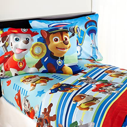 Nickelodeon Paw Patrol Kids Twin Bedding Sheet Set