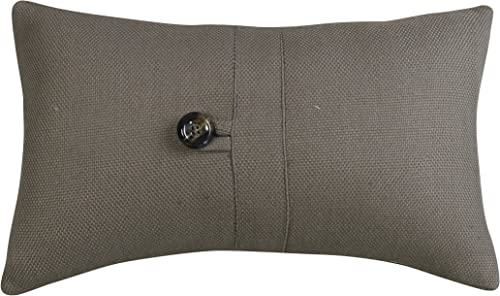 HiEnd Accents Piedmont Accent Pillow, Small, Grey