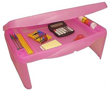 Amazoncom Storage Folding Lap Desk Frosted Pink 25H x 175