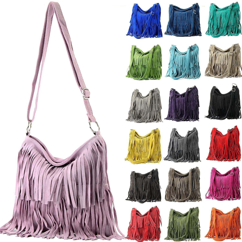 Colore:Borgogna Ital Borsa a tracolla in pelle Frans borsa tracolla donna borsa in pelle scamosciata T125