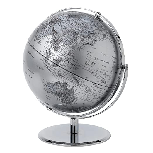 21 opinioni per Globe Collection Mappamondo, Silver, 30 cm