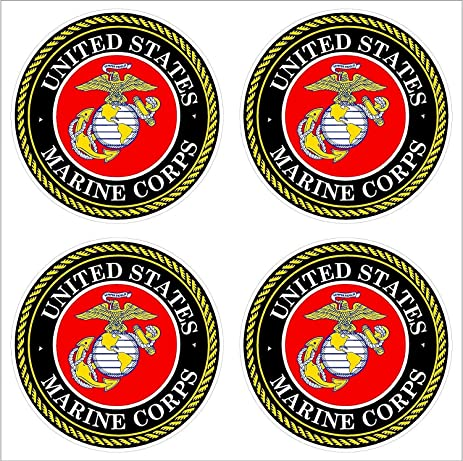 Amazon 4 2 Us Marine Corps Usmc Logo Car Decal Sticker
