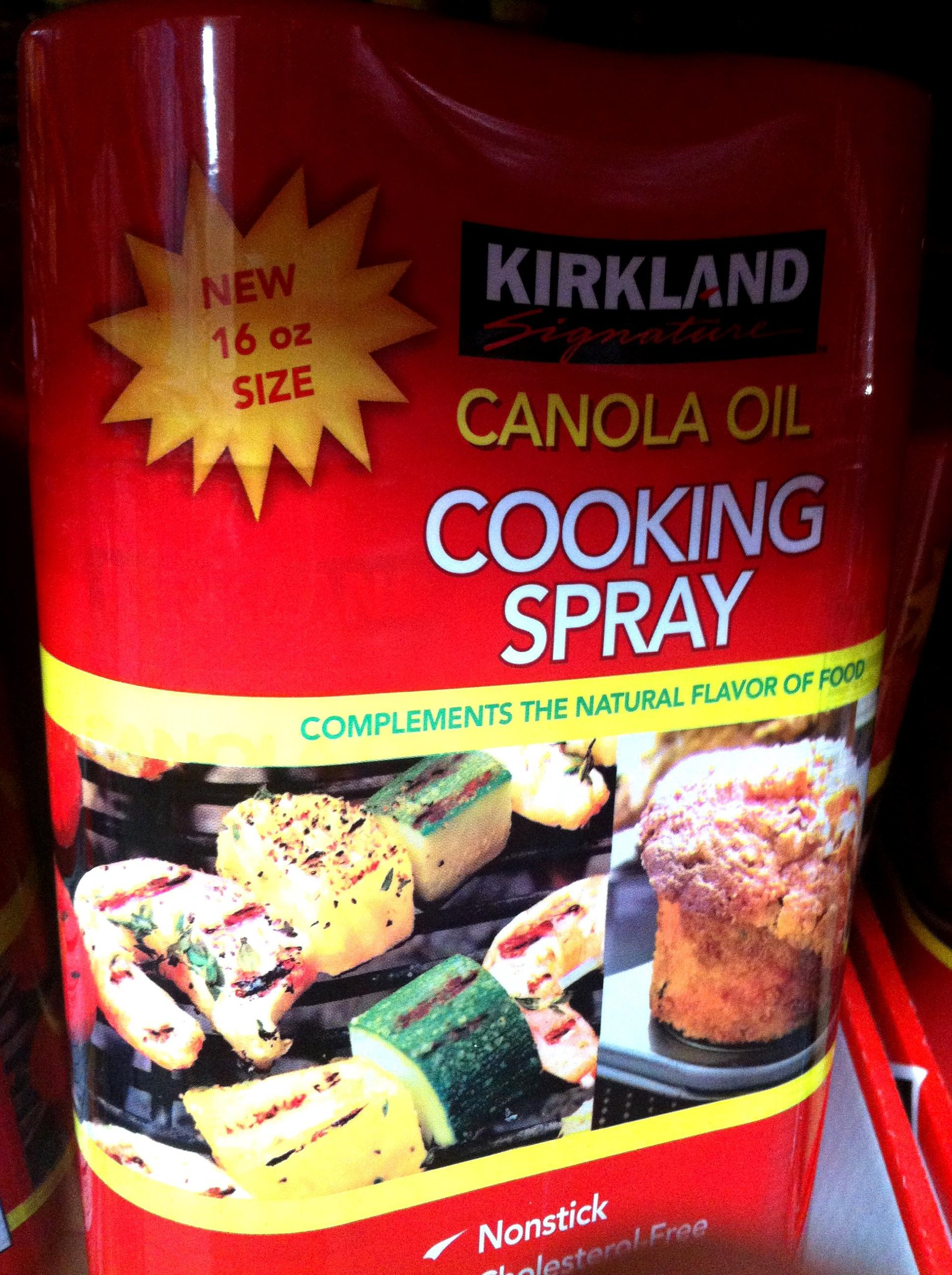 Kirkland Signature Canola Oil Cooking Spray 16 Oz - 2 Pack by Kirkland Signature (Image #1)
