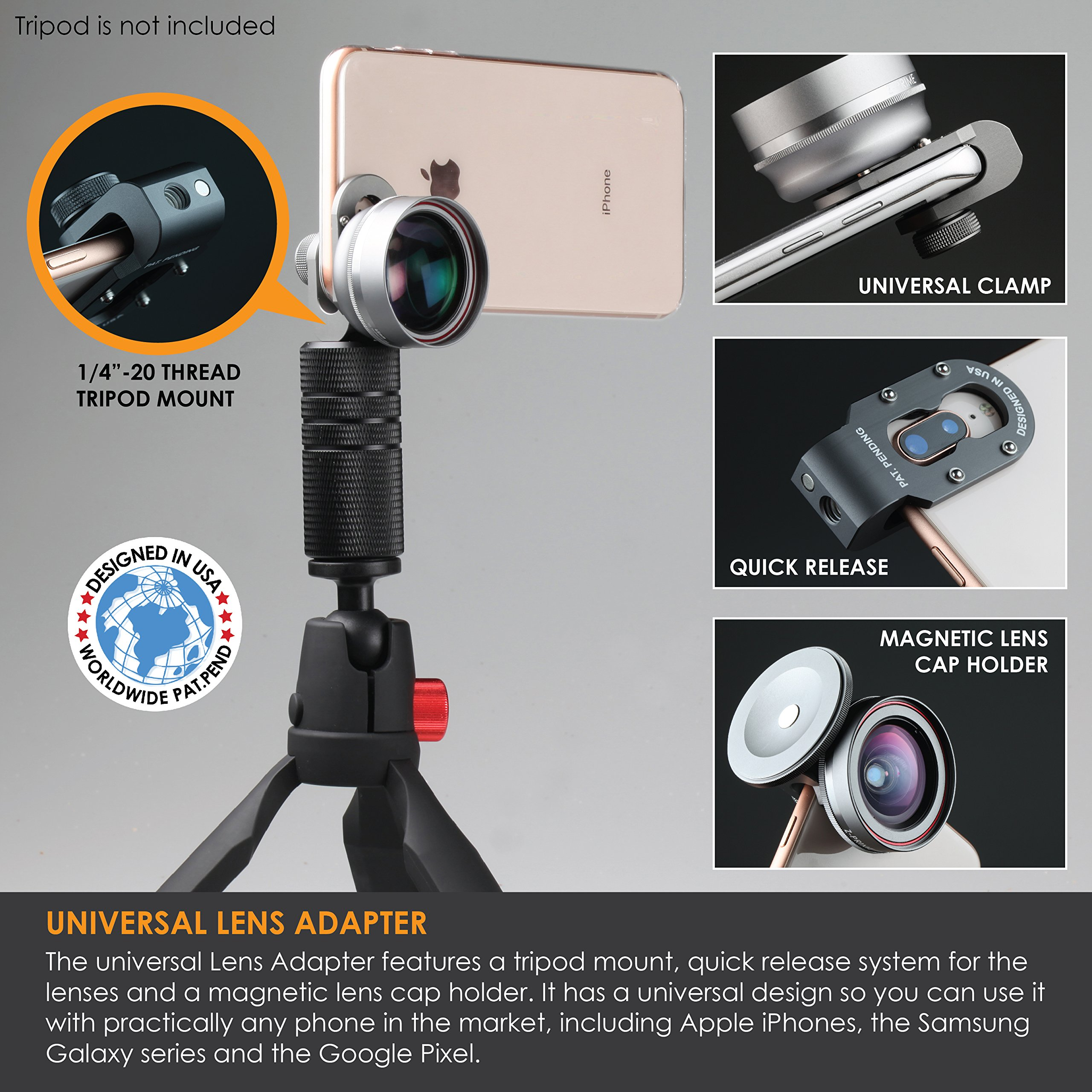 Ztylus Z-Prime Universal 16mm Wide Angle Lens, for iPhone, Samsung Galaxy, Google Pixel by Ztylus (Image #4)