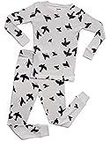 Leveret Kids & Toddler Pajamas Boys Girls 2 Piece Pjs Set 100% Organic Cotton Sleepwear (12 Months-14 Years)