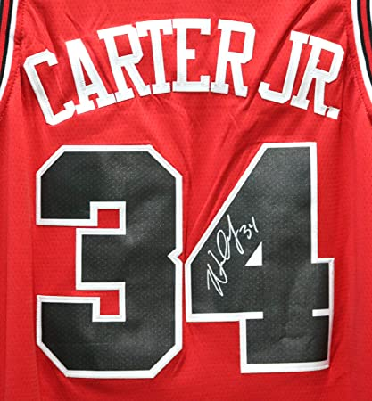 49cc039798e6 Image Unavailable. Image not available for. Color  Wendell Carter Jr. Chicago  Bulls Signed Autographed Red  34 Jersey