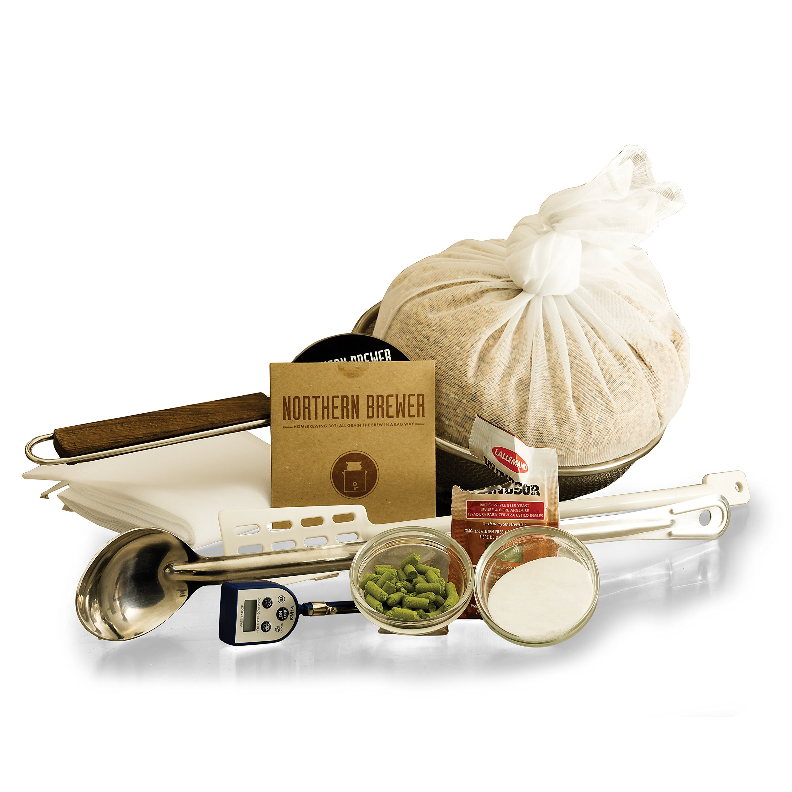 BIAB Brew-In-A-Bag All Grain Beer Brewing Starter Kit With 3 Gallon Caribou Slobber Recipe Equipment