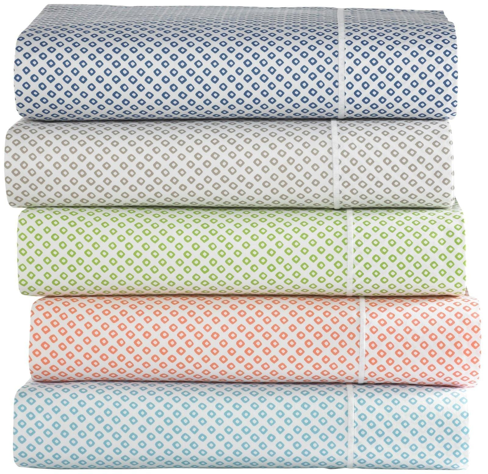 Peacock Alley Emma Fitted Sheet, Blue, King