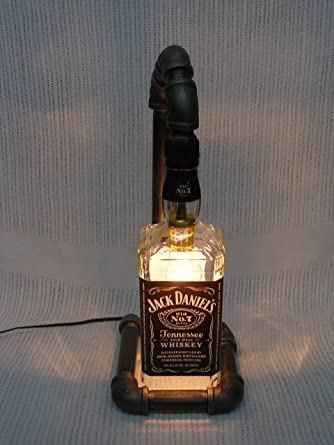Beautiful Jack Daniels Bottle Steam Punk Lamp