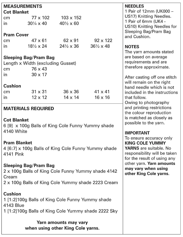 King Cole 5309 - Manta de punto con patrón para tejer: Amazon.es: Hogar