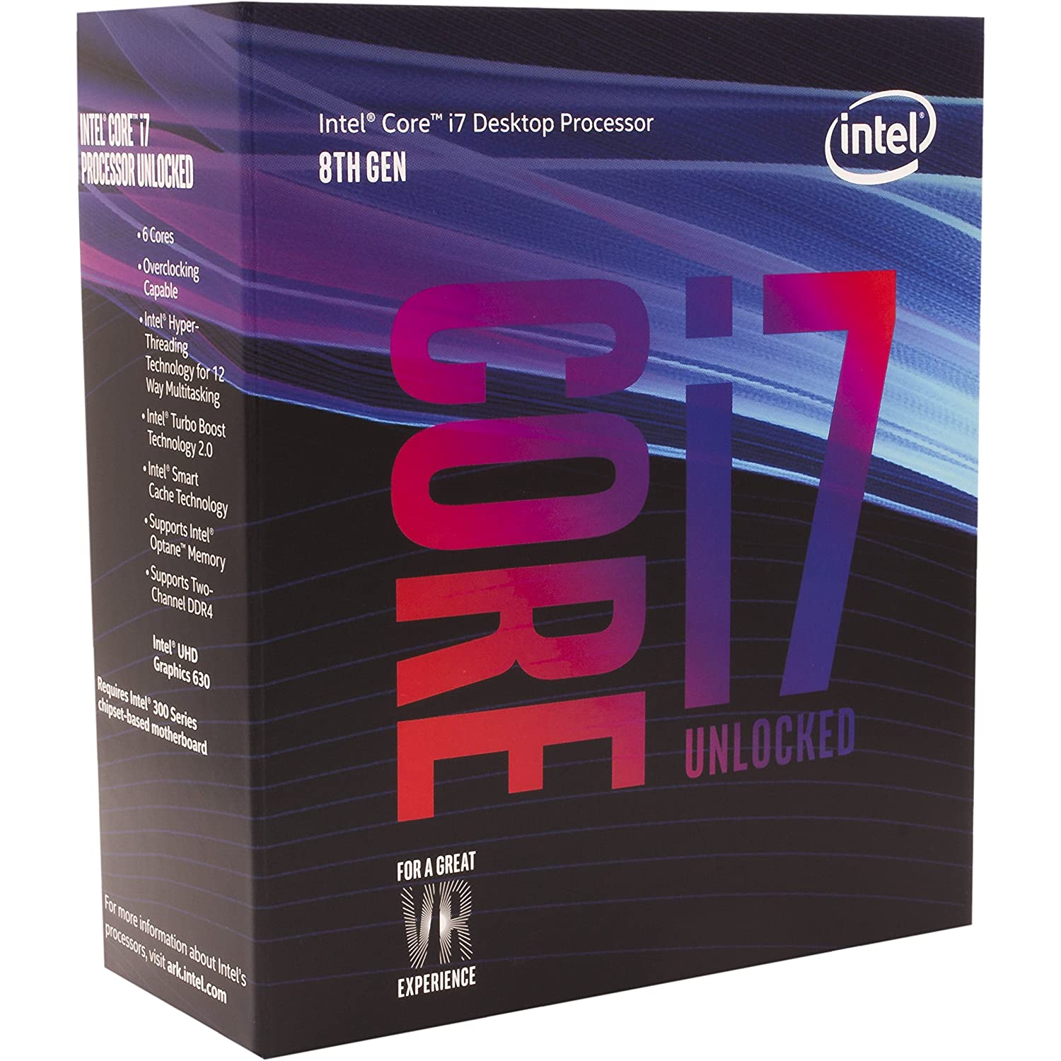 Intel Core i7-8700K Desktop Processor 6 Cores up to 4.7GHz