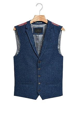 Next Homme Gilet De Costume en Laine Mélangée Bleu EU 112 Long (UK 44L) ffcc4a6d9c6