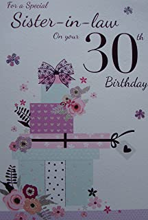 Sister In Law 30th Birthday Card
