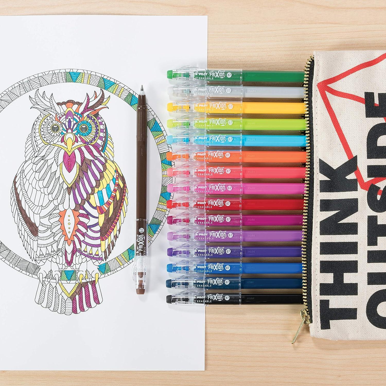 Pack of 1 10367 PILOT FriXion ColorSticks Erasable Gel Ink Stick Pens Assorted Color Inks Fine Point 16-Pack