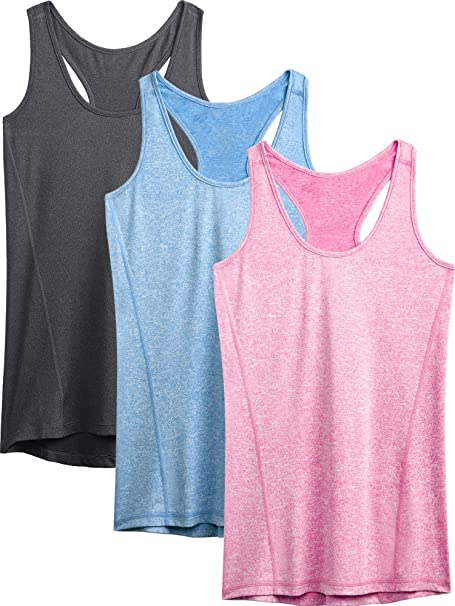 Neleus Womens Racerback Yoga Workout Tank Top