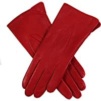 Dents Women's Perforated Classic Leather Gloves With Side Vent & 3 Point Stitch Detail