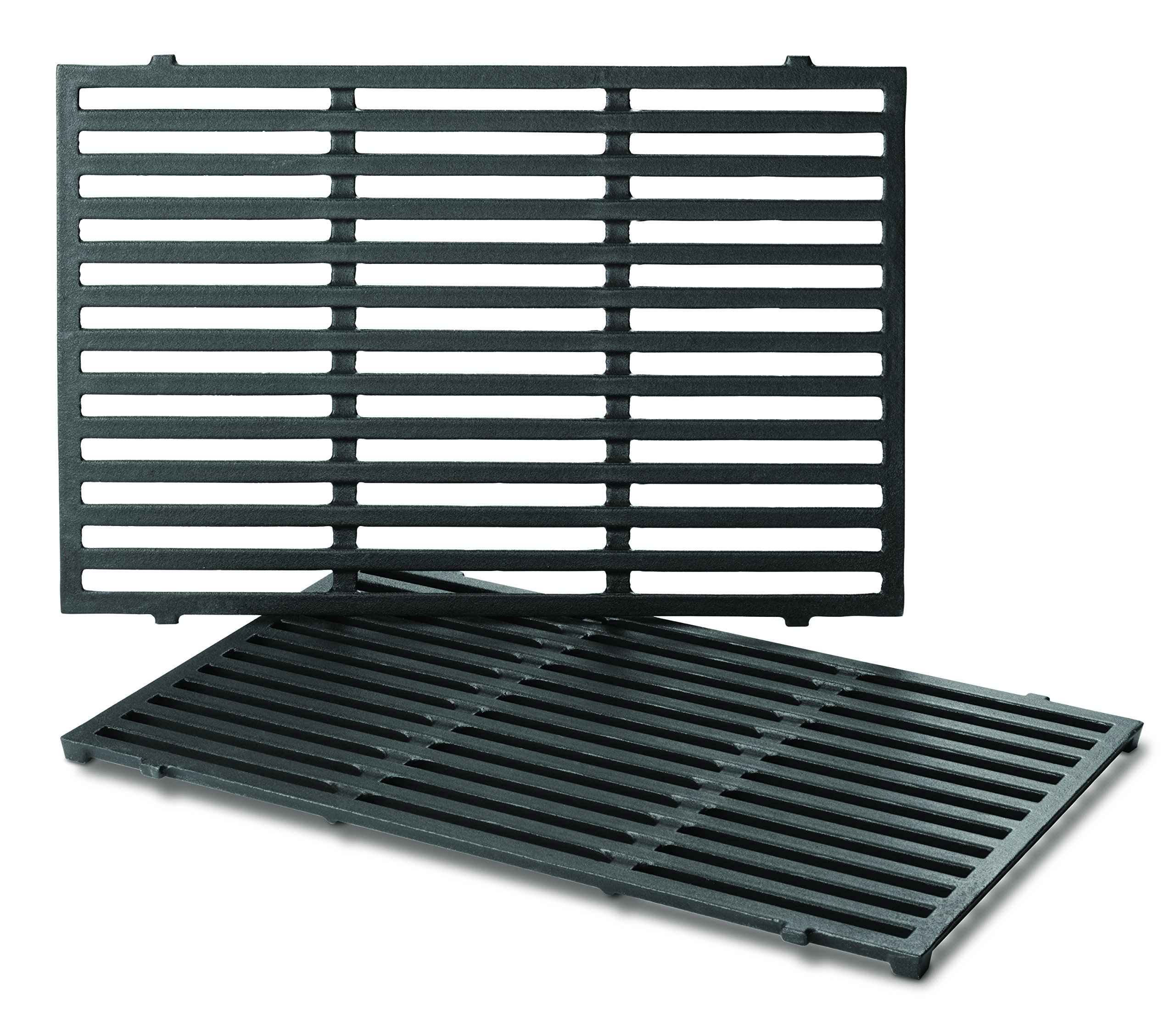 Weber Series Gas Grills (17.5 x 11.9 x 0.5 Each) 7638 Porcelain-Enameled Cast Iron Cooking Grates for Spirit 300, Pack of 2 by Weber