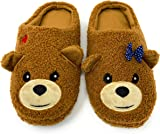 Image of Cute Fluffly Bear Slippers for Women