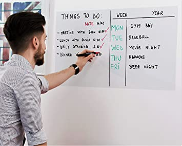 dry erase whiteboard sticker peel and stick paper