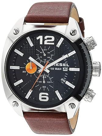 Diesel Reloj Hombre de Analogico con Correa en Piel DZ4204: Diesel ...