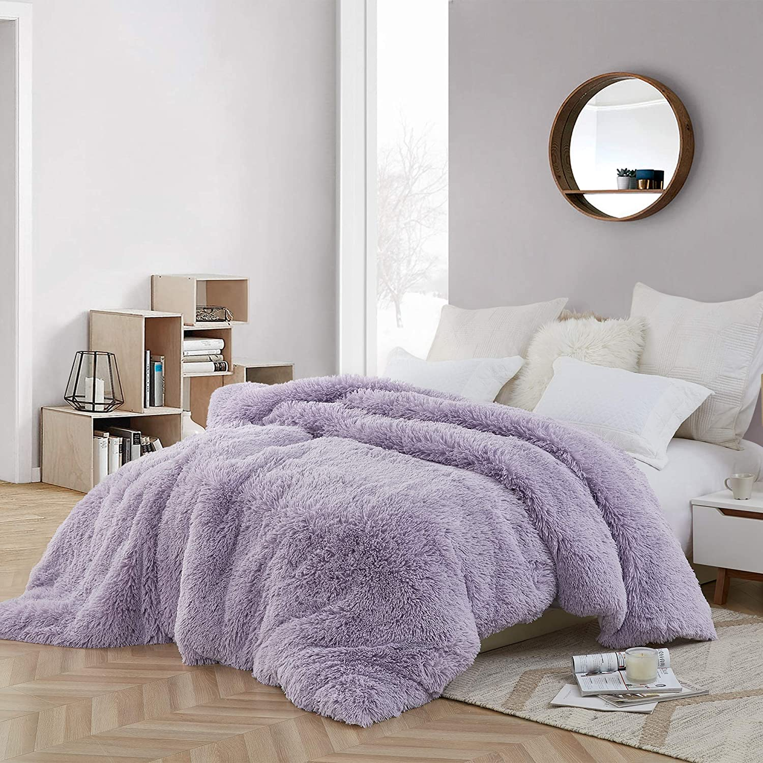 Glacier Gray//White are You Kidding? Byourbed Coma Inducer Twin XL Duvet Cover