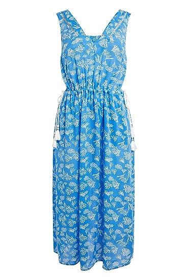 next Donna Abito Longuette con Stampa Corallo Blu EU 50 (UK 22)  Amazon.it   Abbigliamento 12106b50490