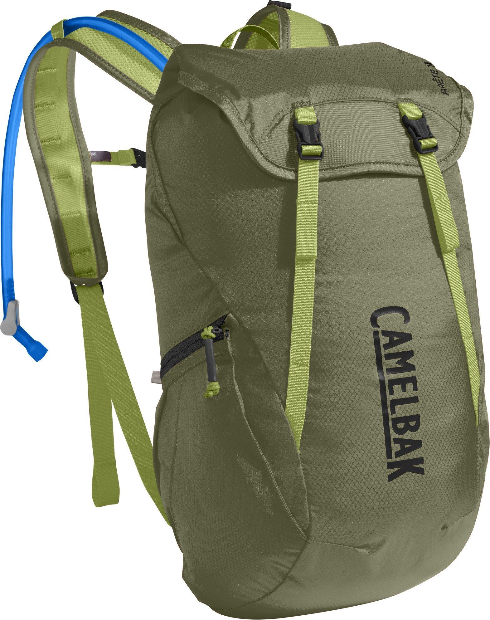 CamelBak Arete 18 Crux Reservoir Hydration Pack, Lichen Green/Dark Citron, 1.5 L/50 oz