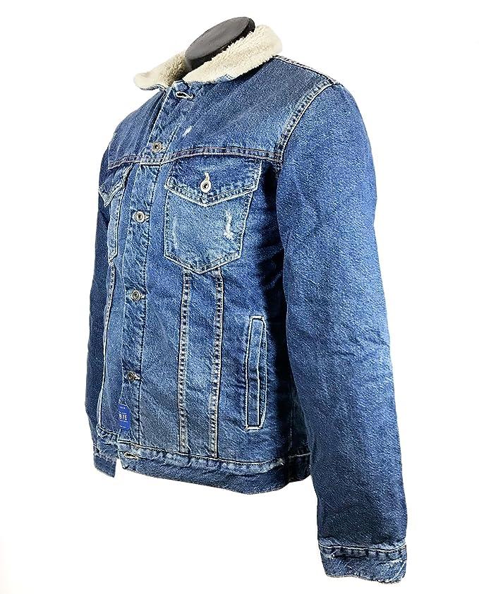 Zara Men Denim and Sheepskin Jacket 5575/390 at Amazon Mens ...