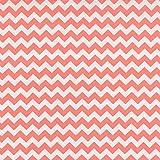 Trend Lab White Chevron Print Crib Sheet, Coral Pink