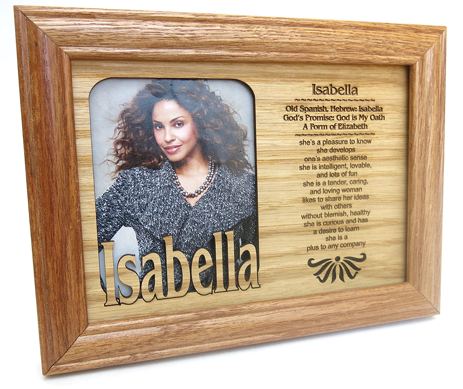 Amazon isabella name profile personal picture frame size 7 amazon isabella name profile personal picture frame size 7x5 inset 4x3 solid wood cut design made in america we loved you the best jeuxipadfo Choice Image