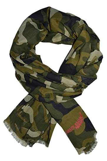 GENTLEMAN FARMER FOULARD CHECHE ECHARPE KEFFIEH IMPRIME CAMOUFLAGE  MILITAIRE CHEICH CHECH 100% COTON NEUF 118ee77432f