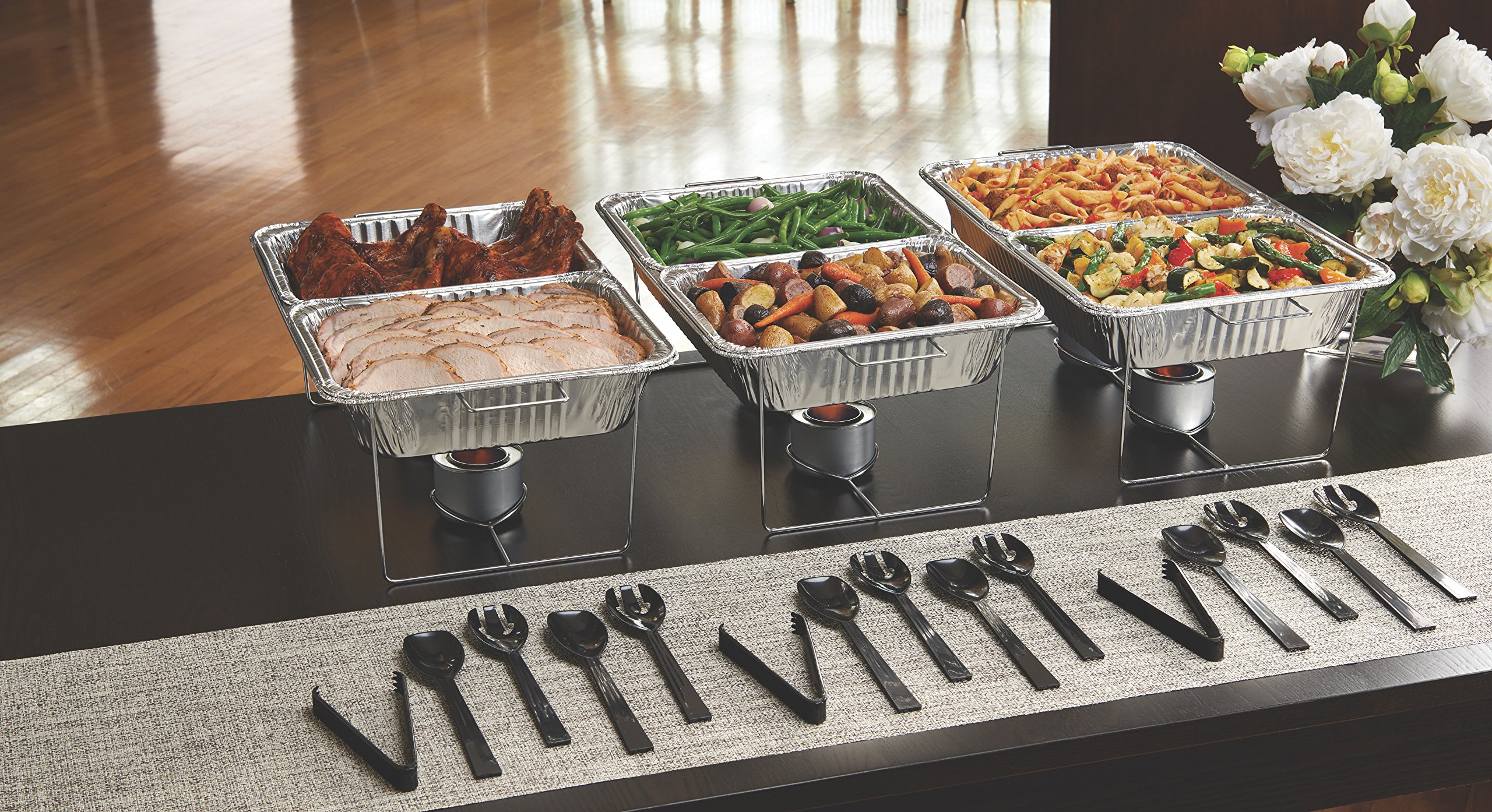 Party Essentials 33 Piece Party Serving Kit, Includes Chafing Kits and Serving Utensils by Party Essentials (Image #3)