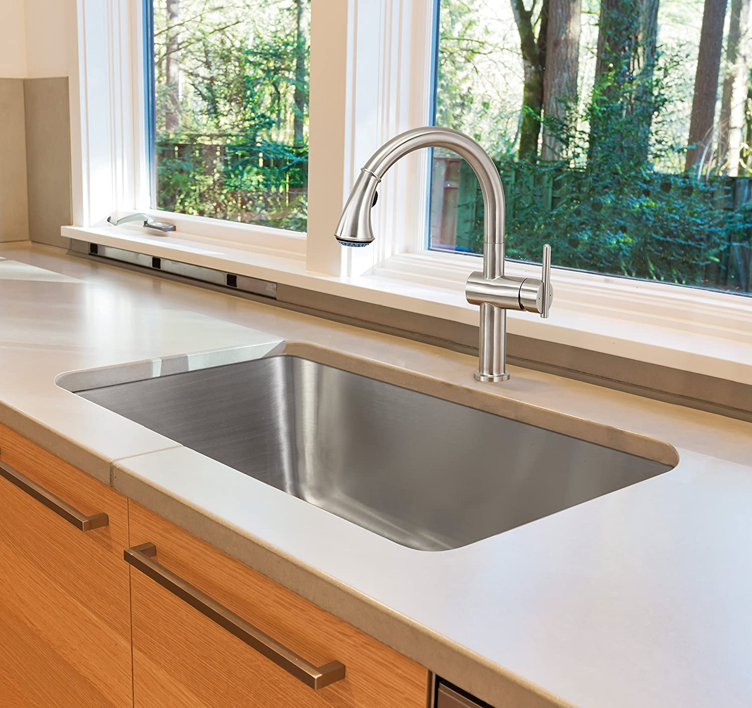 Extra Thick 16 Gauge Durable & Unbeatable Deal 31 inch Big Single Bowl Undermount Stainless Steel Kitchen Sink 606