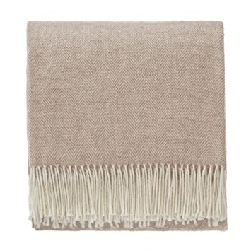 Fine Urbanara 50 Alpaca Wool 50 Merino Wool Throw Corcovado 51X67 Light Brown Off White With Fringe Blanket With Decorative Herringbone Weave Design Theyellowbook Wood Chair Design Ideas Theyellowbookinfo