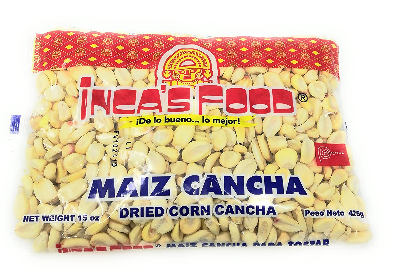 Inca's Food Maiz Cancha Para Tostar- Dried Corn Cancha for Toasting - Product of Peru 15oz