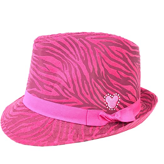 59d059e73479d ... czech disney parks pink animal print fedora hat mickey ears icon youth  girls 0758c 47220