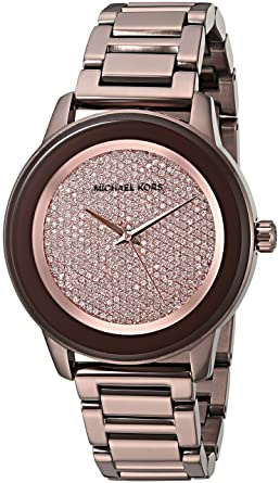 624a0d545007 Image Unavailable. Image not available for. Color  Michael Kors Women s  Kinley Brown Watch MK6245