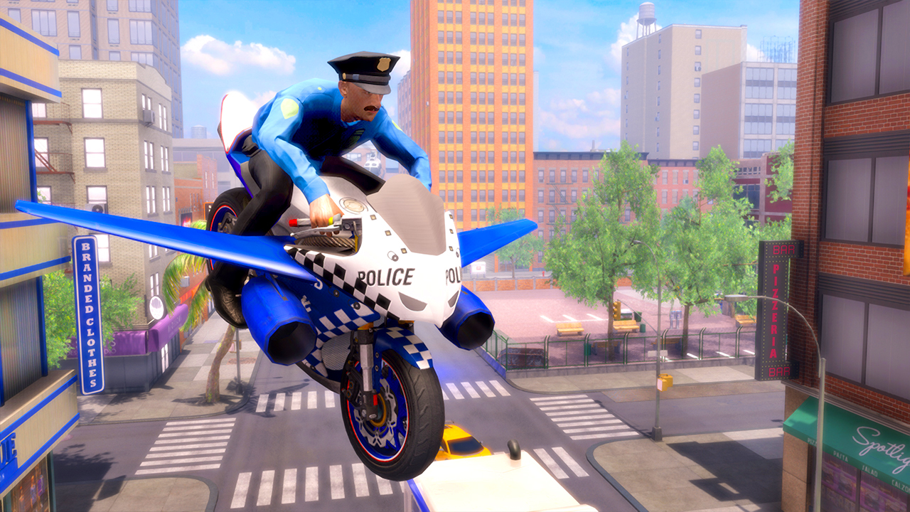 US Police Flying Bike Rider 3D Game: Motorcycle Flying Simulator: Amazon.es: Appstore para Android