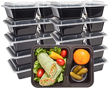 Amazoncom Durahome Meal Prep Containers 10 Pack 2 Compartment