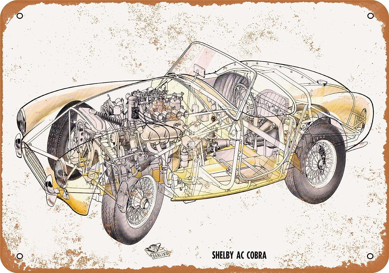 "Details about  /SHELBY AC COBRA 62 Retro Metal Tin Sign Garage Mechanic Mancave Plaque 8x12/"" NEW"