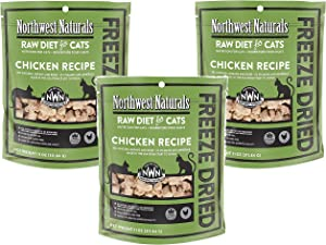 Northwest Naturals (3 Pack) Freeze Dried Raw Diet for Cats - Chicken - 11oz