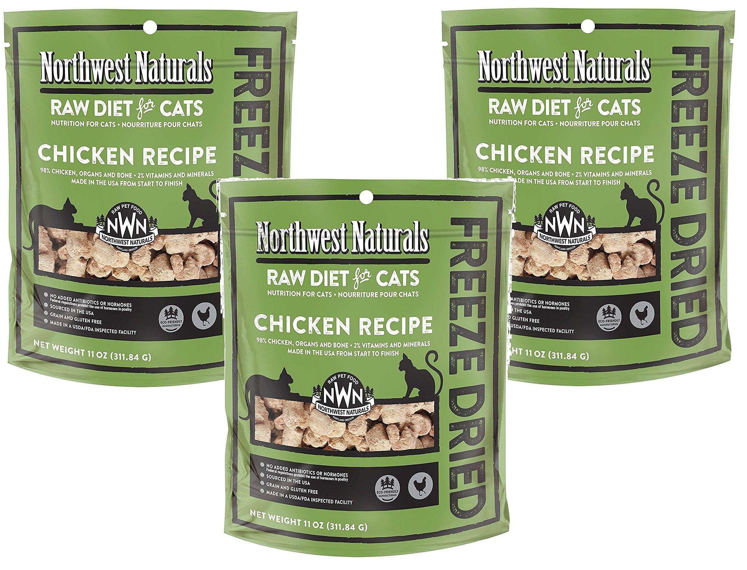 Northwest Naturals (3 Pack) Freeze Dried Raw Diet for Cats - Chicken - 11oz by Northwest Naturals