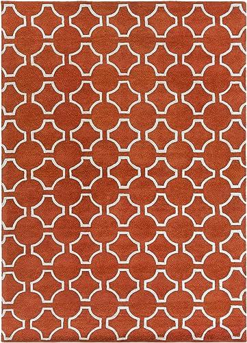 Surya ZUN-1041 Zuna Designer Area Rug, 8 by 11-Feet, Poppy Red