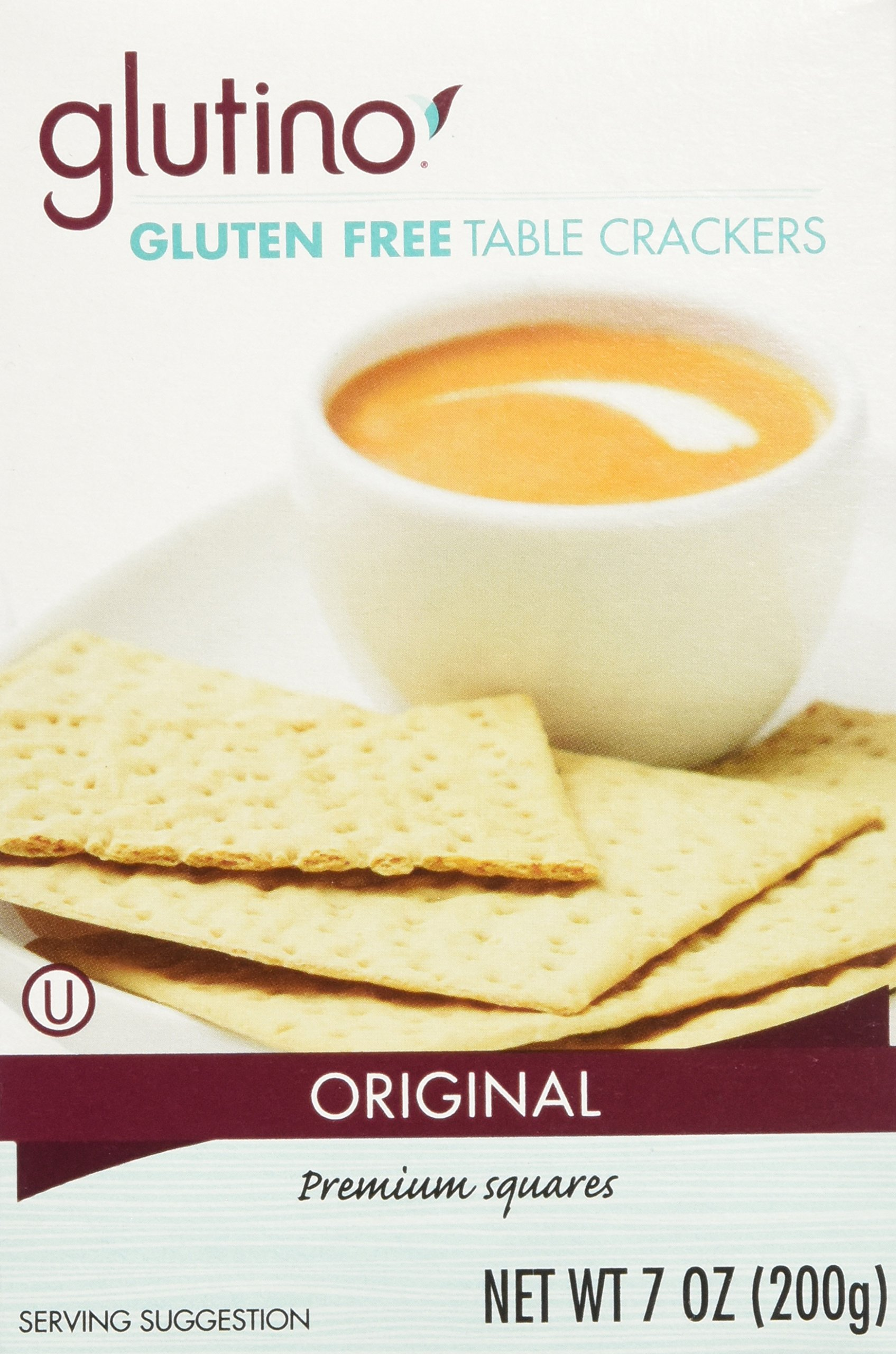 Glutino, Gluten Free Table Crackers 7 Oz , pack of 3 by Glutino
