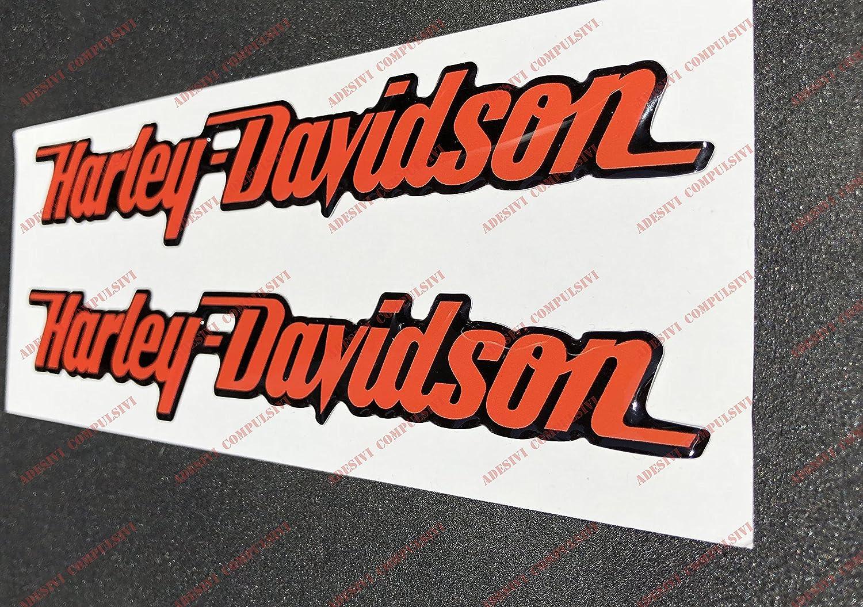 Escudo Logo Decal Harley Davidson Orange par pegatinas resinati efecto 3d Para dep/ósito o casco.