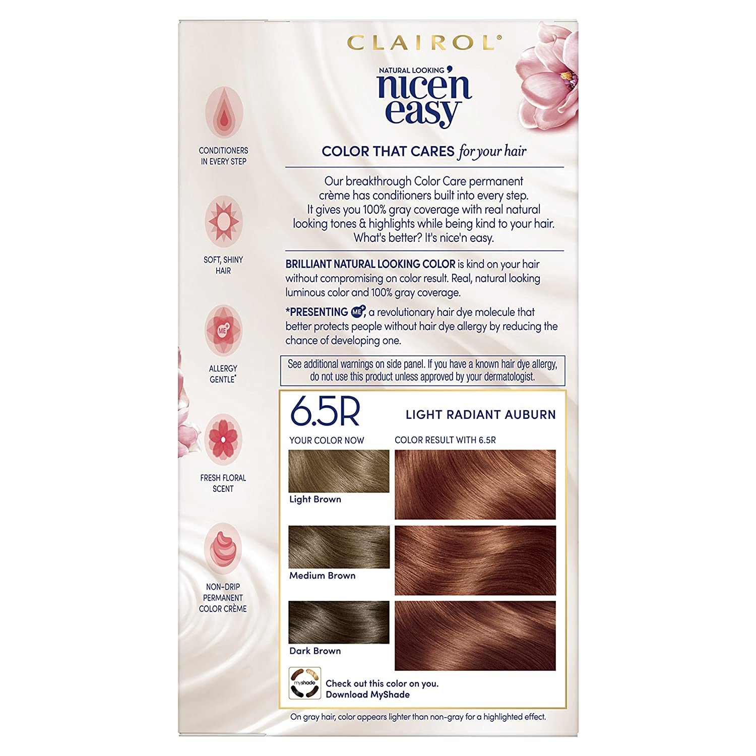 Amazon.com : Clairol Nice N Easy Permanent Hair Color, 6.5 Lightest Brown : Beauty
