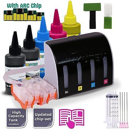INKUTEN CISS para HP 934 935 con 5 x 100ml Premium dye para de ...