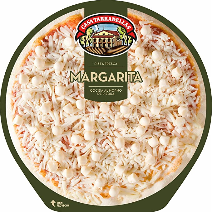 Casa Tarradellas Pizza Fresca Margarita - 340 gr: Amazon.es ...